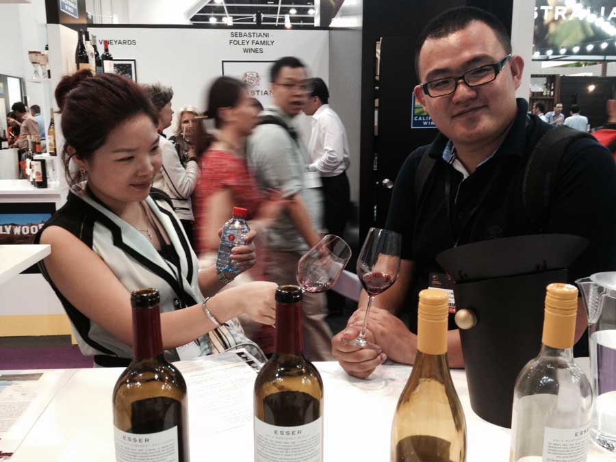 Having fun with Esser Wines in Hong Kong, will be back again