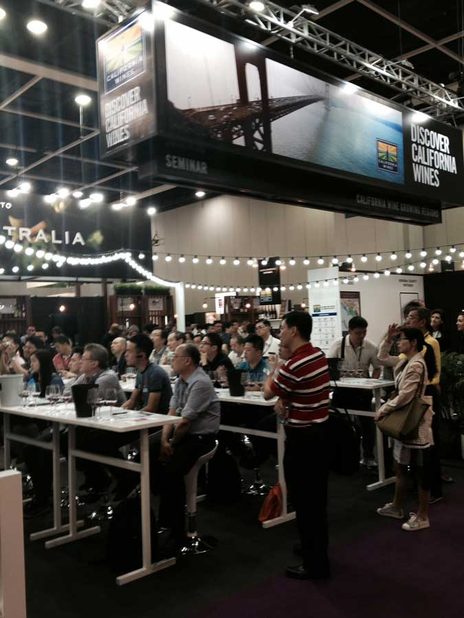 Learning about California Wines at the Vinexpo Asia-Pacific in Hong Kong