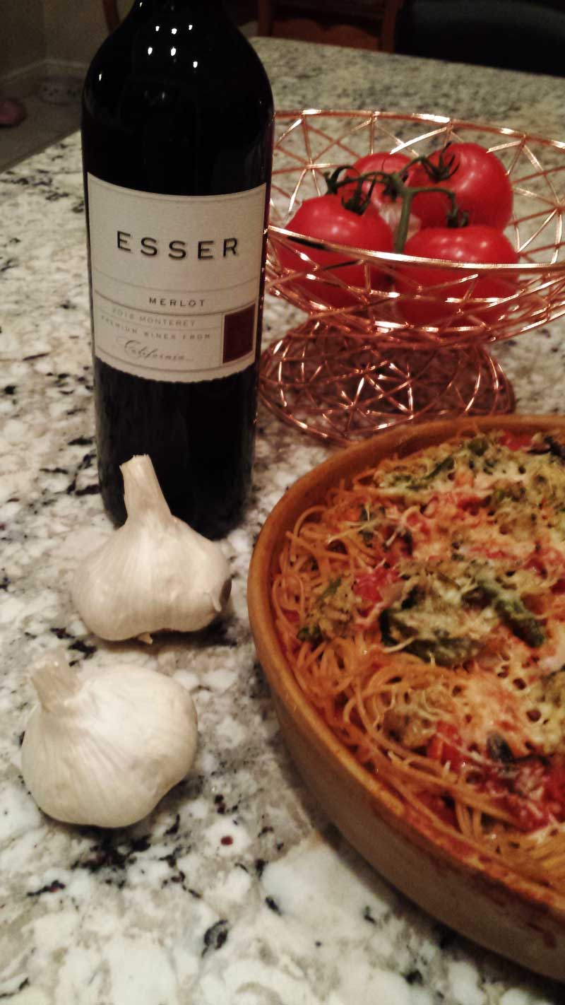 Esser Merlot and Homemade Italian Pie