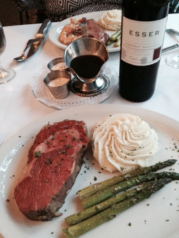 Esser Cabernet Sauvignon at Hill Top Restaurant, Orange Park, FL