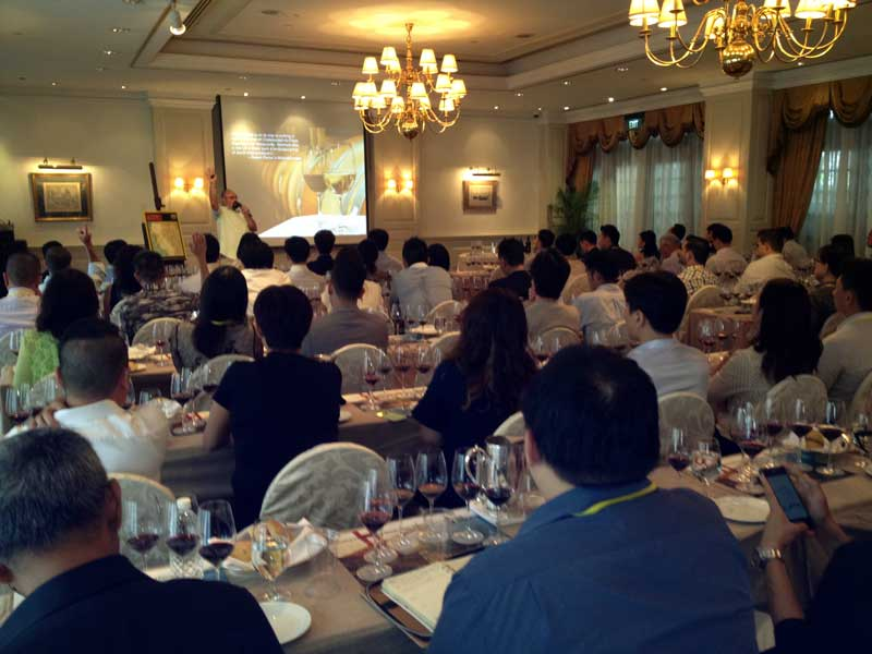 Seminar with the California Wine Institute at Raffels Hotel, Singapore