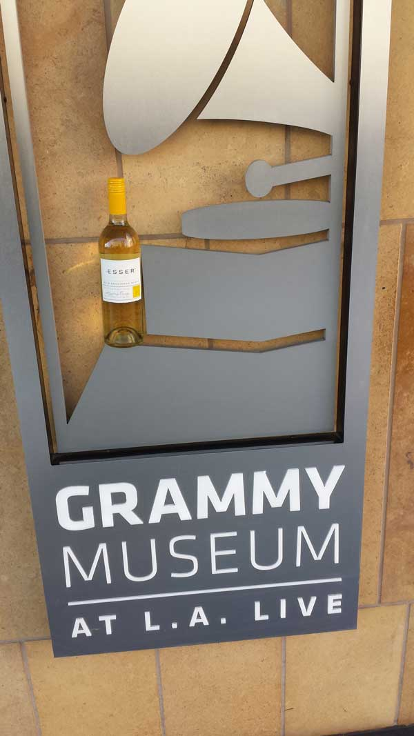 Award Winning Esser Wines shows up at the famous Grammy Museum Downtown LA for a very special event supporting Path-Point's 50th Anniversary Gala