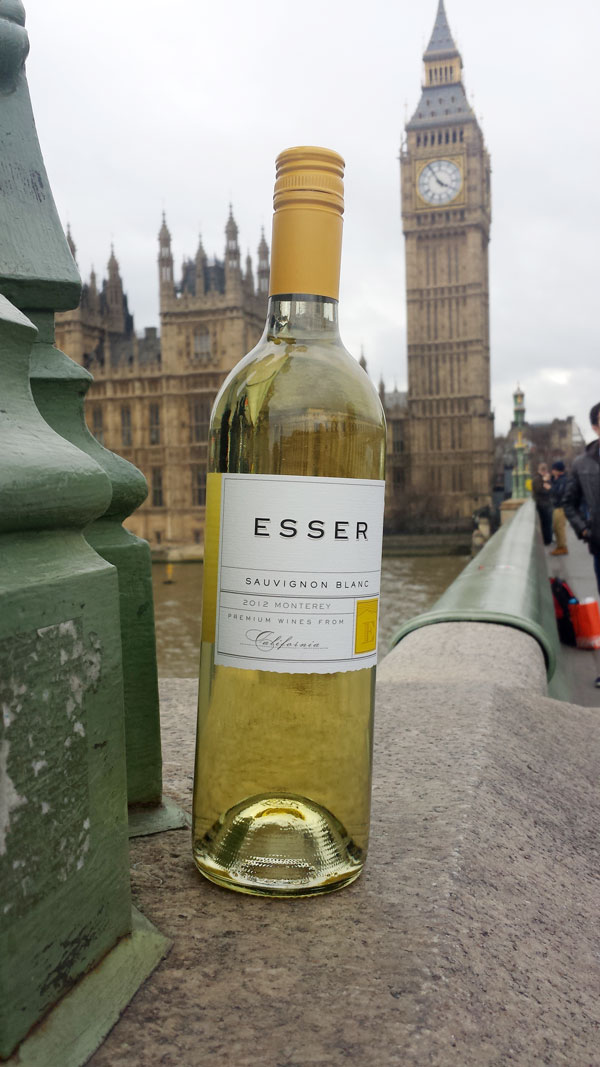 Esser Wines in front of Big Ben, London