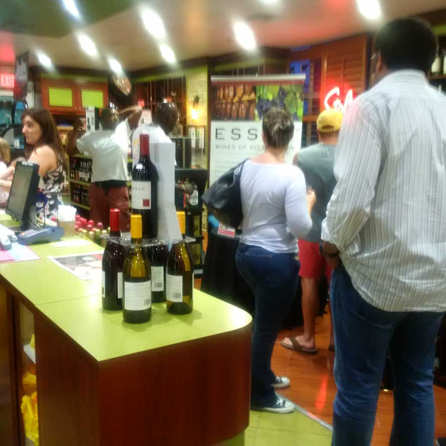 About 75 people attended the Esser Wine tasting and many bottles were purchased