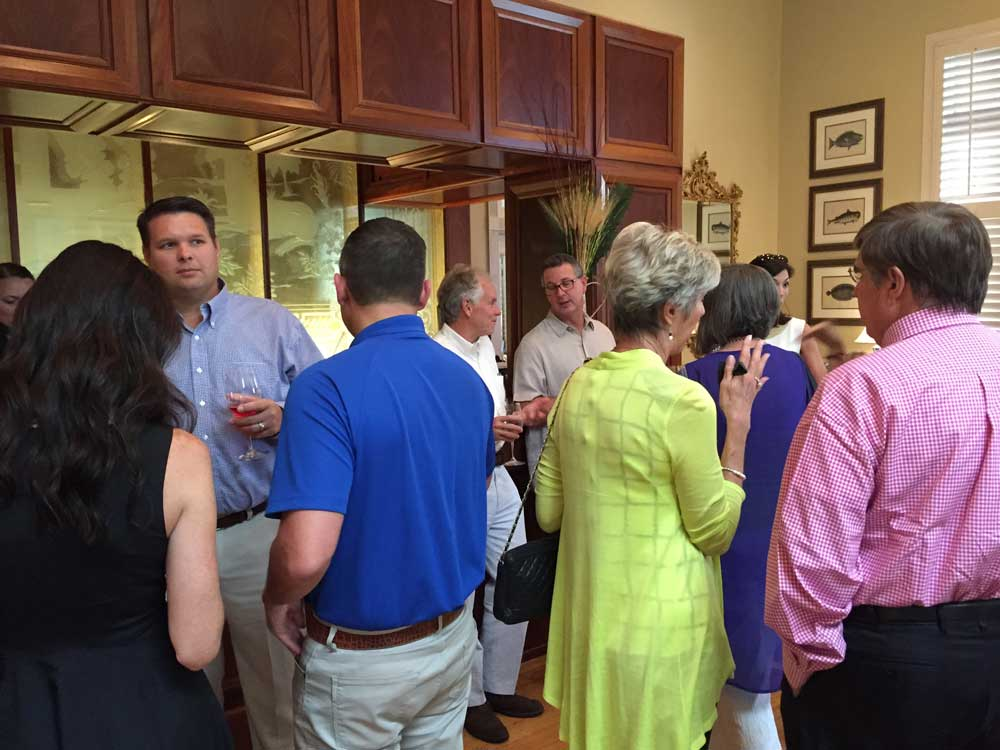 Governors Club members enjoying great Esser wine and great company