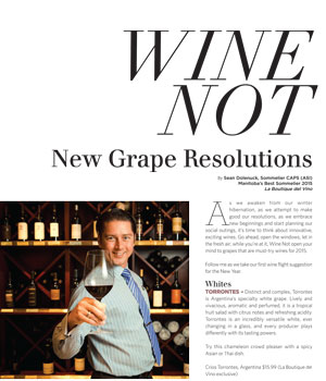 Wine Not: New Grape Resolutions